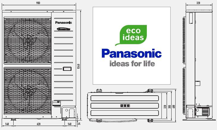 Dimensiuni unitate externa pompa de caldura Panasonic Aquarea TCAP